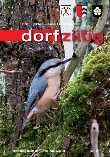 Dorfziitig Mai 2013 - Gemeinde Winkel