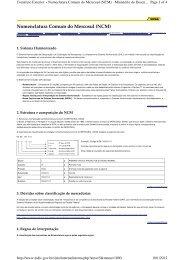 19/01/2012 - Nota - Nomenclatura Comum do Mercosul (NCM) - Udop
