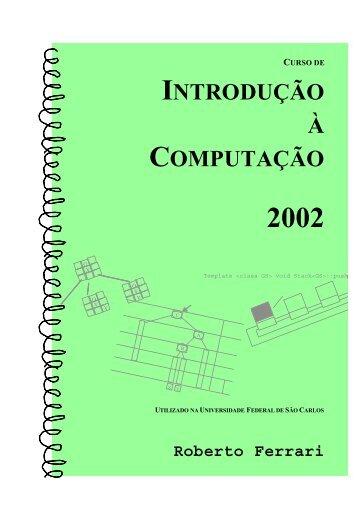 INTRODUÇÃO À COMPUTAÇÃO - UFSCar