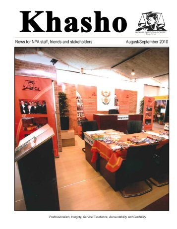 Khasho August September 2010 - National Prosecuting Authority