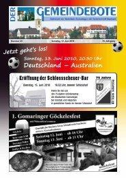 Ausgabe :Gomaringen 12.06.10.pdf - Gomaringer Verlag