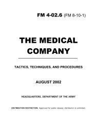 The Medical Company - Tactics, Techniques, and Procedures