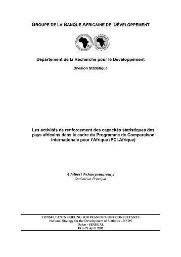 Les activités de renforcement des capacités statistiques ... - Paris21