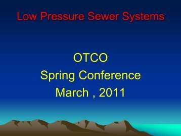 Low Pressure Sewers - Ohiowater.org