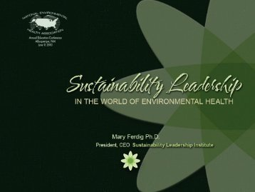 Sustainability Leaders.