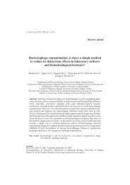 Bacteriophage contamination - Journal of Applied Genetics
