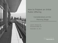 How to Prepare an IPO: Considerations at the Planning Stage