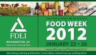2012 Food Week - Food and Drug Law Institute