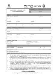 solicitud de licencia de obra por acto comunicado - Buenavista del ...