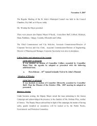Council Minutes Monday, November 5, 2007 - City of St. John's