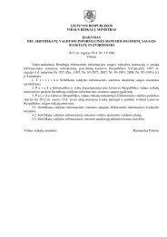 lietuvos respublikos vidaus reikalų ministras įsakymas dl sertifikat ų ...