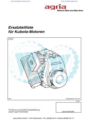Ersatzteilliste für Kubota-Motoren - Wölfnitzer Werkzeugkiste GmbH ...