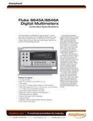 Fluke 8845A/8846A Digital Multimeters - Amplicon