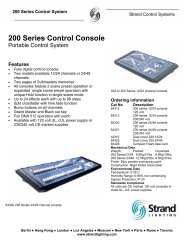 200 series console - Grand Stage Company