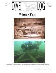 January/February 1998 - Volume 23, Issue 1 - United Divers of New ...