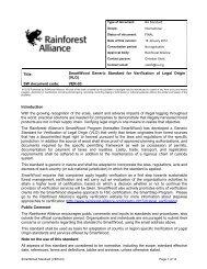 Verification of Legal Origin - Rainforest Alliance