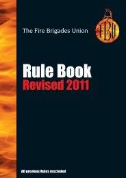 FBU Rule Book - Fire Brigades Union