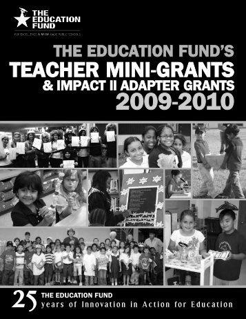 2009-2010 Teacher Mini-Grants Award Booklet - The Education Fund