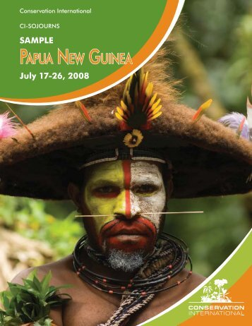 Papua New Guinea Sample Sojourn - Library - Conservation ...