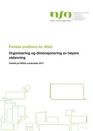 Plattform for organisering og dimensjonering av høyere utdanning
