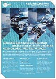 Mercedes-Benz A-Class Case Study - Fairfax Media Adcentre