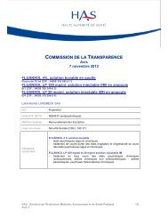 COMMISSION DE LA TRANSPARENCE - Lundbeck
