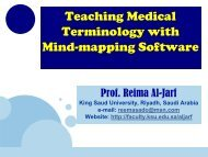 Teaching Medical Terminology with a Mind-mapping Software