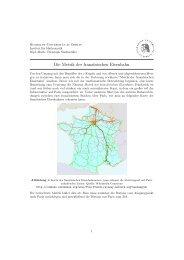 Die Metrik der französischen Eisenbahn - Institut fuer Mathematik