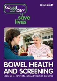 carers guide - Bowel Cancer UK