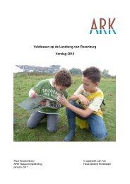 Verslag veldlessen 2010 - ARK Natuurontwikkeling