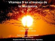 Vitamina D en el manejo de la Sarcopenia. Clara Perret.