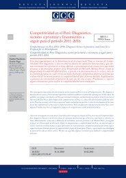 Competitividad en el Perú: Diagnóstico - GCG: Revista de ...