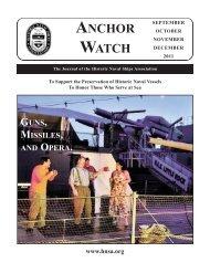 Fall 2011 - Historic Naval Ships Association