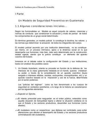 I Parte Un Modelo de Seguridad Preventiva en Guatemala ... - Futuros