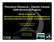 Petroleum Research – Atlantic Canada 2009 Review of Projects