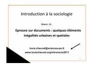 I. Commentaire de documents : quelques éléments - Louis Chauvel