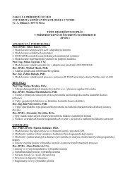 Témy rigoróznych prác pre prírodovedné študijné odbory (RNDr.)