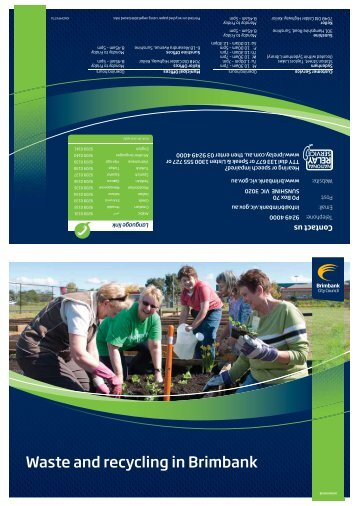 2013 Waste Guide - Brimbank City Council