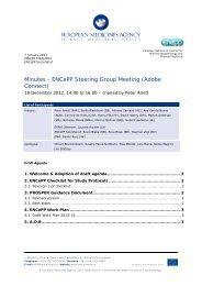 Minutes - ENCePP Steering Group Meeting 18 December 2012 ...