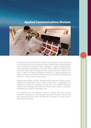 Applied Communications Division - Higher Colleges of Technology