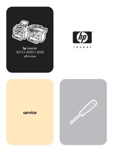 Hp Laserjet 3015 3020 3030 All In One Service Manual Market Point