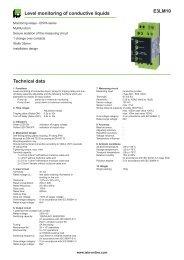 E3LM10 Level monitoring of conductive liquids Technical data