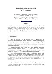 Study of e+e - ACFA Joint Linear Collider Physics and Detector ...