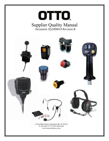 Supplier Quality Manual - Otto