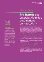 Cahier central - Préambule - Arc Express