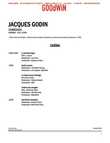 Curriculum vitæ complet (pdf) - Agence Goodwin