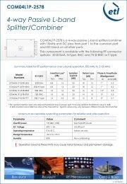 4-way Passive L-band Splitter/Combiner - ETL Systems