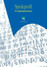 Språkprofil for Tinglysingsdivisjonen ved Statens kartverk, langversjon