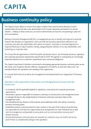 Business Continuity policy.qxd - Capita Symonds