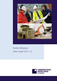 Nuclear task group Chair's report 2011–12 - Constructing Excellence